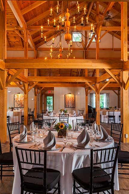 Barn wedding reception venue